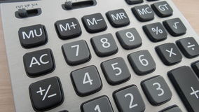 Clavier de calculatrice Photos stock