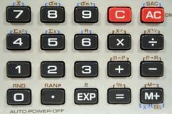 Clavier de calculatrice de plan rapproché Images libres de droits