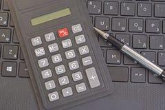 Clavier de calculatrice et d'ordinateur portable Image stock