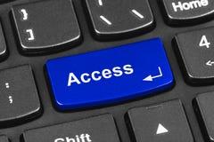Clavier de carnet d'ordinateur avec la clé d'Access Photos stock