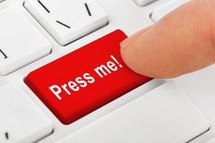 Clavier de carnet d'ordinateur avec la presse je principal Photo stock