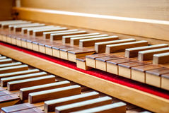 Clavier de clavecin Photo stock