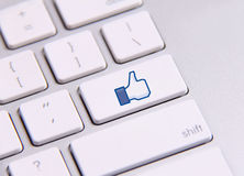 Clavier de Facebook Photos stock
