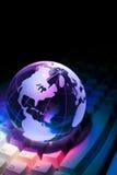 Clavier de globe et d'ordinateur Image libre de droits