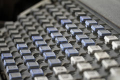 Clavier de linotype Photographie stock