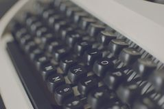 Clavier de machine ? ?crire image stock