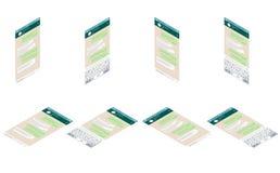 Clavier de mobile de whith de calibre de la causerie APP le concept a digitalement produit salut du social de recherche de réseau illustration stock