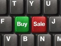 Clavier de PC avec deux clés d'affaires Photo libre de droits
