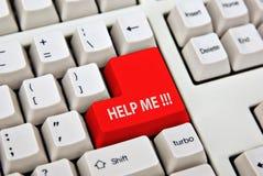 Clavier de PC d'ordinateur d'aide   Image libre de droits