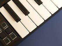 Clavier de piano électronique Images stock