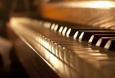 Clavier de piano Photos libres de droits