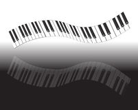 clavier de piano abstrait Photographie stock libre de droits