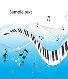clavier de piano abstrait Images stock