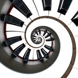 Clavier de piano circulaire d'isolement sur le blanc image libre de droits