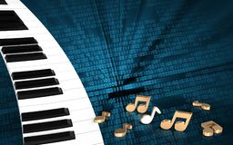 clavier de piano 3D Illustration Stock