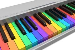 Clavier de piano d'arc-en-ciel Photo libre de droits