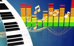 clavier de piano de clavier de piano 3d Illustration Stock
