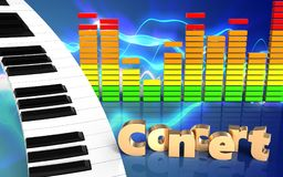 clavier de piano de clavier de piano 3d Photos stock