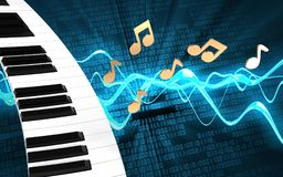 clavier de piano du blanc 3d Photos stock