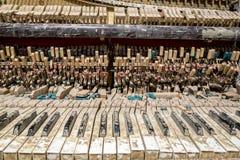 Clavier de piano ruiné Photographie stock libre de droits