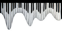 Clavier de piano sur le fond blanc illustration de vecteur