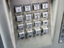 Clavier de téléphone Photo libre de droits