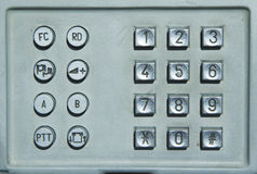 Clavier de téléphone public image libre de droits