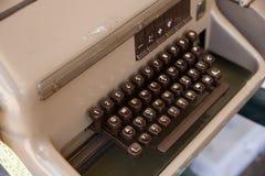 Clavier de télex antique Photo stock