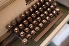Clavier de télex antique Images libres de droits