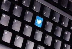 Clavier de Twitter Photographie stock libre de droits