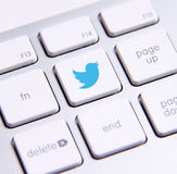 Clavier de Twitter Photos libres de droits