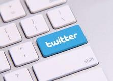Clavier de Twitter Images libres de droits