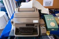 Clavier de vieux télex Image libre de droits