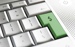 Clavier du dollar Photo stock