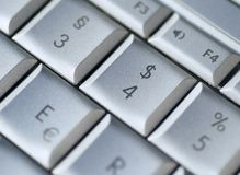 Clavier du dollar Photo libre de droits