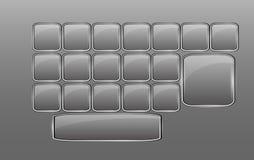 Clavier en verre vide de vecteur Images libres de droits