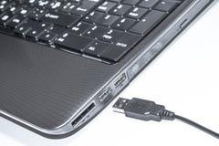 Clavier et câble d'usb Photos libres de droits