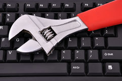 Clavier et clé Photographie stock libre de droits