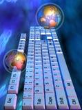 Clavier et globe illustration de vecteur
