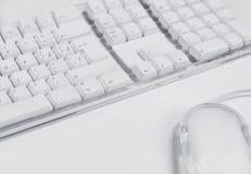 Clavier et souris d'ordinateur Image stock