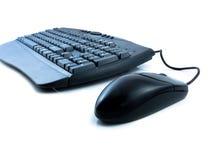 Clavier et souris d'ordinateur Photo stock