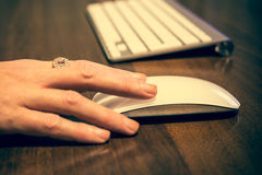 Clavier et souris d'ordinateur image libre de droits
