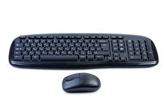 Clavier et souris d'ordinateur d'isolement. Photo stock