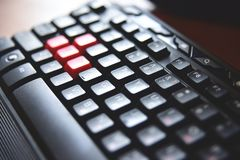 Clavier, fin  photographie stock