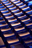 Clavier frais, bleu et orange Photo stock