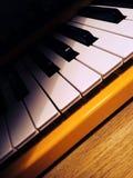 Clavier jaune de synthétiseur Image libre de droits