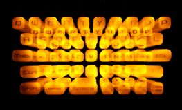 Clavier lumineux Image stock
