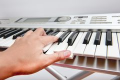 Clavier musical photographie stock