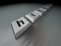 clavier noir d'Internet Image stock