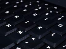 Clavier noir d'ordinateur portatif Images libres de droits
